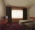 Hotelroom  with television, 140-120 cm, 1995, oil on linen