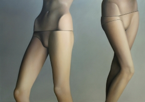 Mannequins legs, 2004, 180-225 cm, oil on canvas.