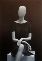 Sitting Mannequin, 140-100 cm, 2017, oil on canvas.