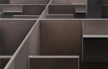 Cubicles (brown), 2013, 100-155 cm, Oil on linen