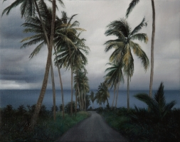 Road to the sea, 56-44 cm, 2006, oil on canvas